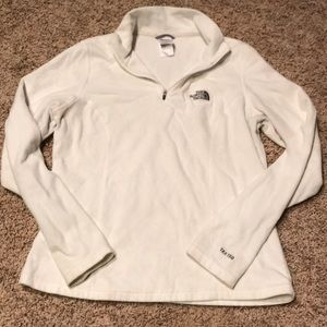 2/$20 The North Face 1/2 zip, White, Small